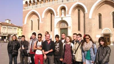 Nos CAPA à Padoue avec Céline Pierre et Philippe Querton devant la basilique St Antoine.