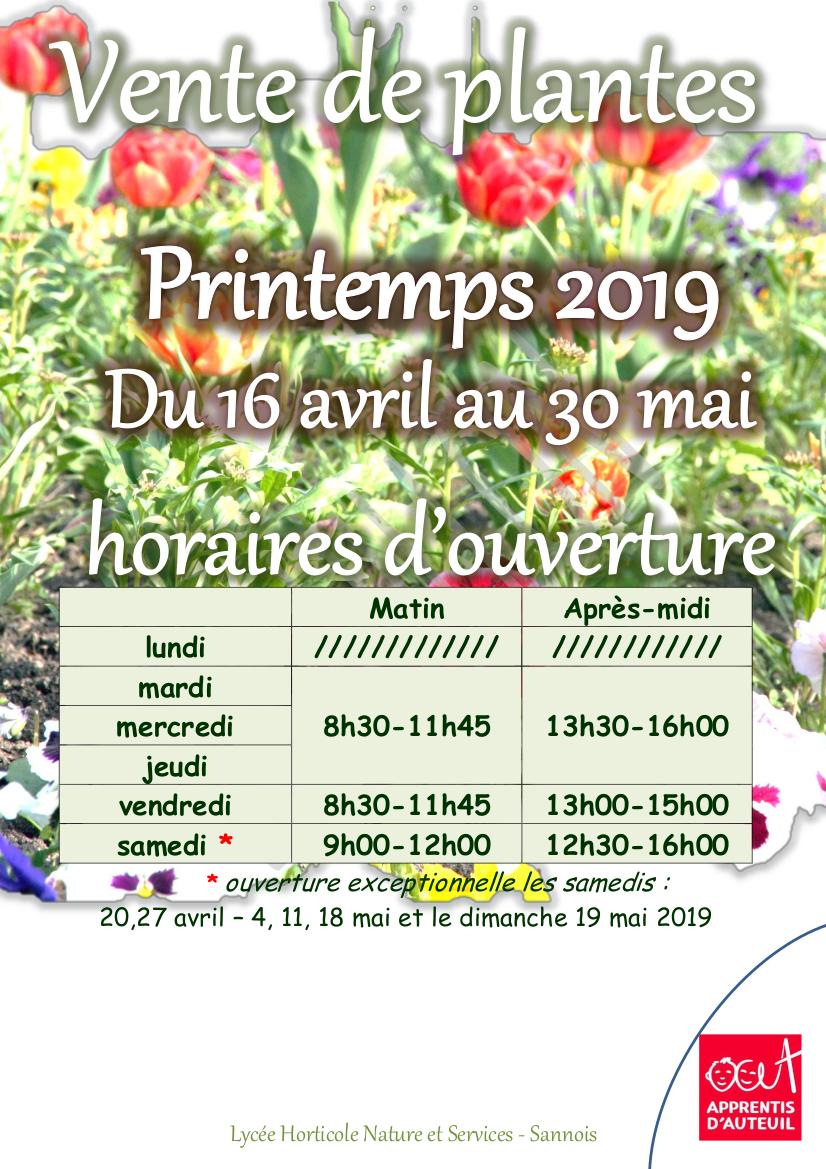 Horticulteur Val D Oise vente de plantes - printemps 2019 - groupe scolaire saint-jean